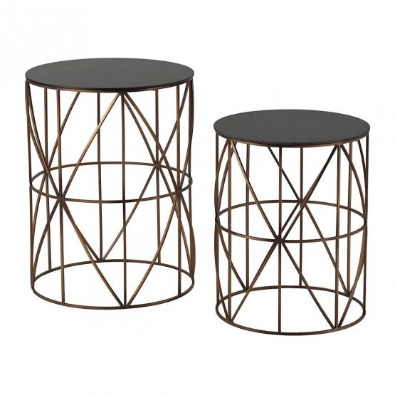 Bradfield Drum Side Tables - Set of 2 photo