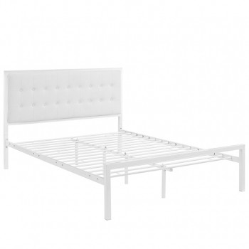 Millie Full Vinyl Bed, White White by Modway