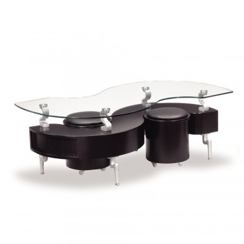 T288BC Coffee Table, Black by Global Furniture USA