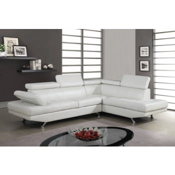 U9782 Sectional, White