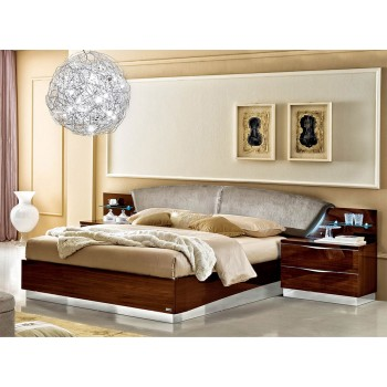 Onda Queen Size Bed, Walnut