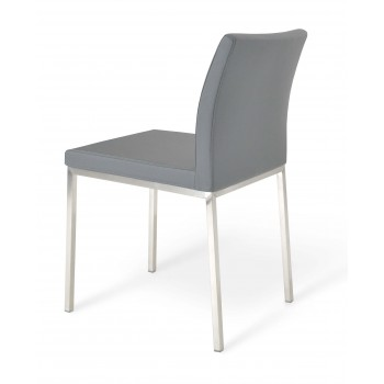 Aria Dininng Chair, Stainless Steel Base, Grey PPM  by SohoConcept Furniture