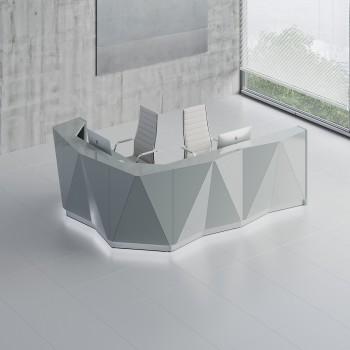 Alpa ALP17L Reception Desk, Aluminum