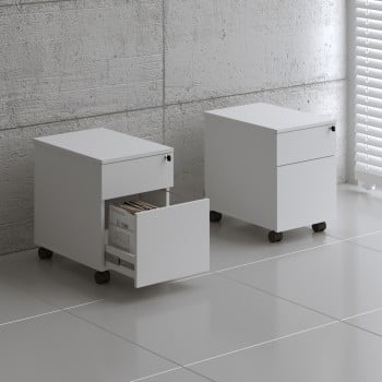 Standard SLD12 Mobile Pedestal w/Files Drawer, White