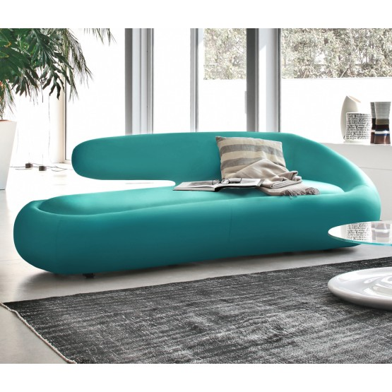 Duny Sofa, Turquoise Blue Leather photo