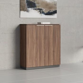 Status 2 Door Storage Cabinet X31, Lowland Nut