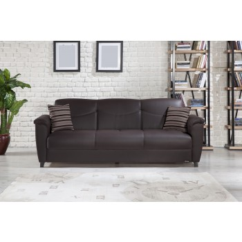 Aspen Sofabed, Santa Glory Dark Brown by Sunset International Trade