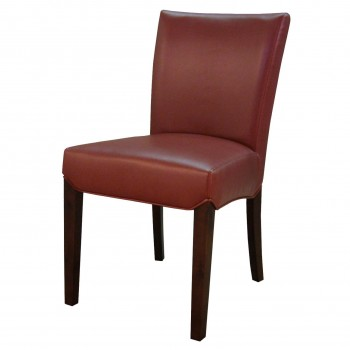 Beverly Hills Bonded Leather Chair, Pomegranate, Set of 2 by NPD (New Pacific Direct)