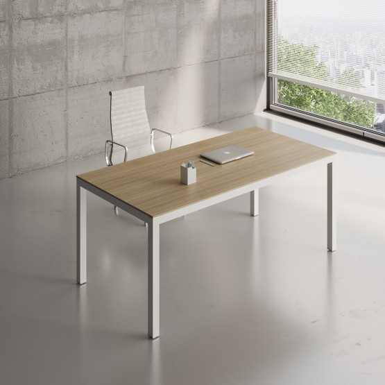 Impuls Desk IM05, White Pastel + Canadian Oak photo
