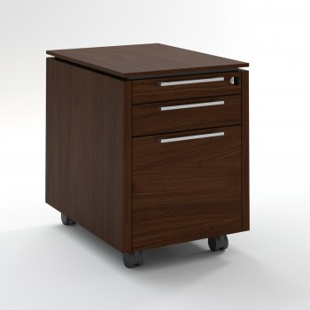 Status Mobile Pedestal w/Files Drawer XKD12, Chestnut