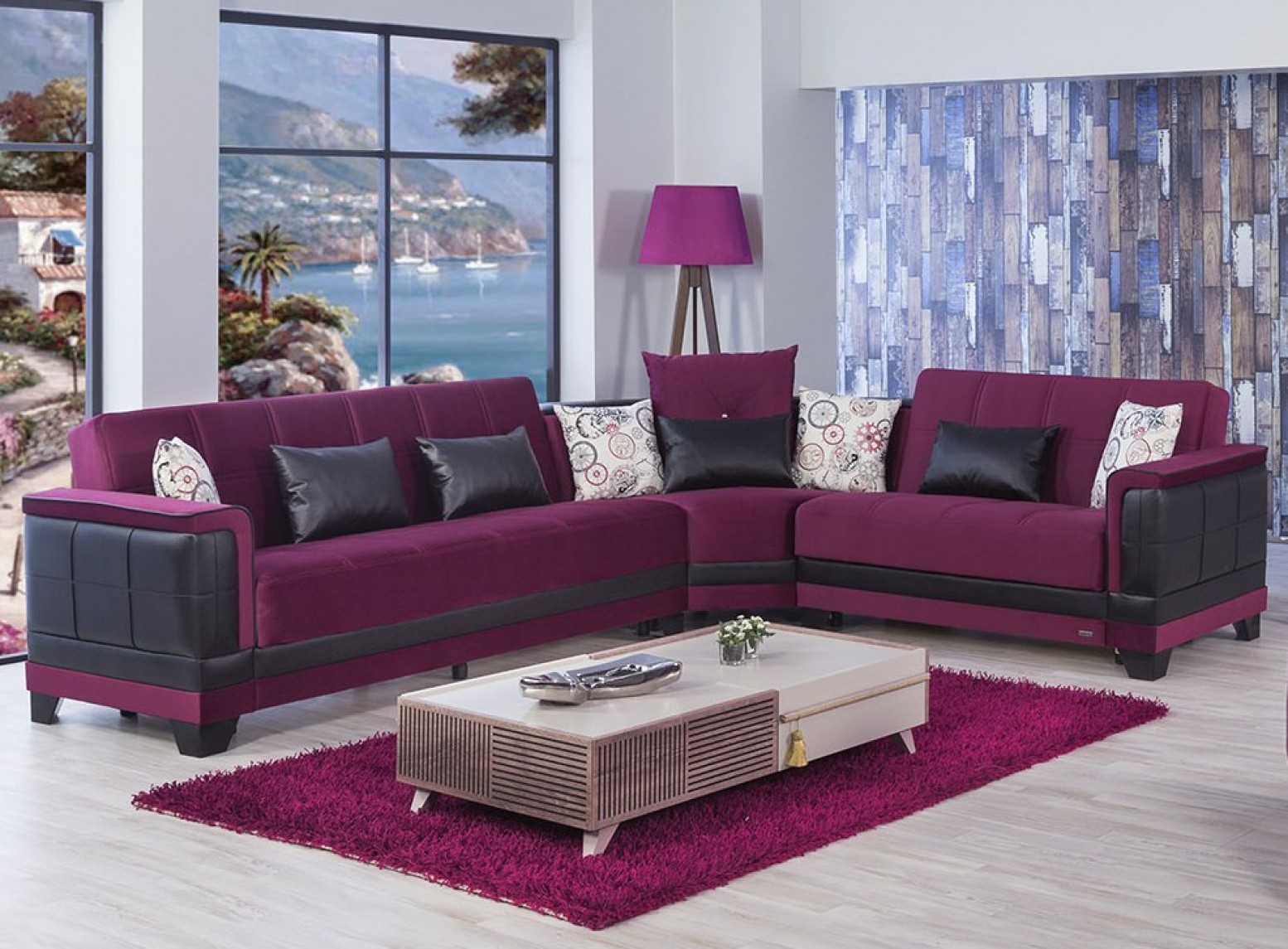 Remarkable Four Seasons Sectional Sofa Eva Burgundy Unemploymentrelief Wooden Chair Designs For Living Room Unemploymentrelieforg