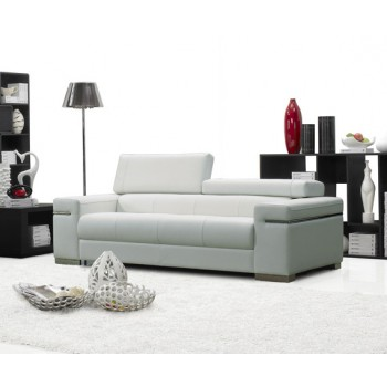Soho Sofa, White Leather by J&M Furniture