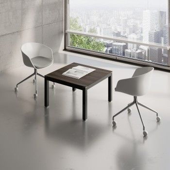Impuls Small Table IM57, Black + Chestnut