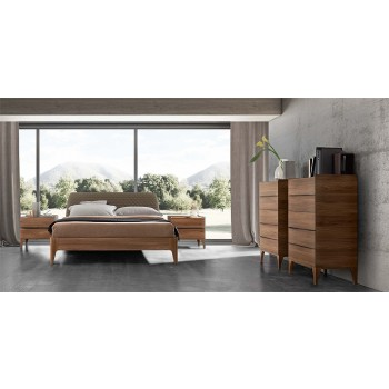 Akademy Euro King Size Bedroom Set w/Wooden Ring
