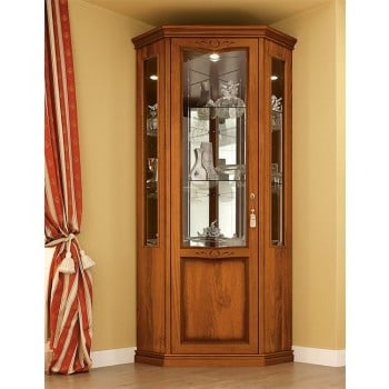 Nostalgia 1-Door Left Corner Column, Walnut