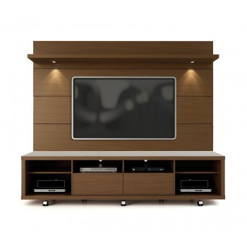 "Cabrini 85.8"" TV Stand & Panel, Nut Brown"