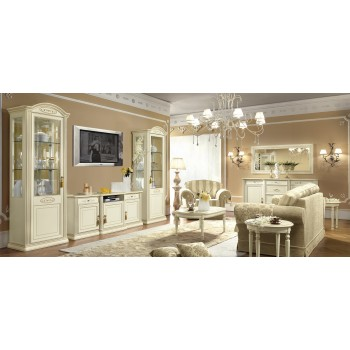 Siena 3-Piece Entertainment Set w/Maxi TV Cabinet, Ivory