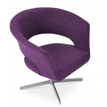 Ada 4 Star Base Armchair, Deep Maroon Camira Wool by SohoConcept Furniture