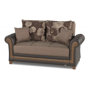 Dream Decor Loveseat, Brown by Casamode