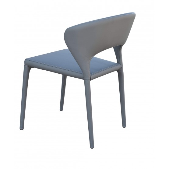Prada Full Upholstered Stackable Chair, Grey PPM photo