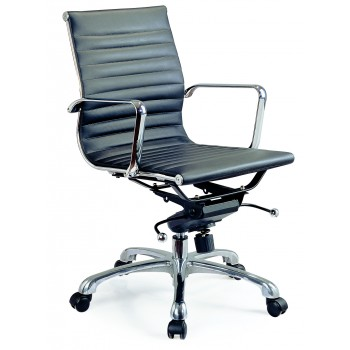 Comfy Low Back Office Chair, Black by J&M Furniture