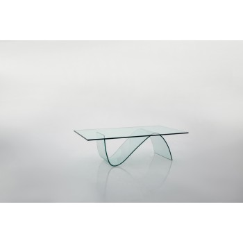 Alissa Rectangular Coffee Table, Clear Transparent