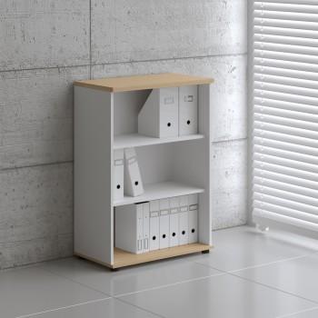 Basic K3504 Open Storage, White + Beech
