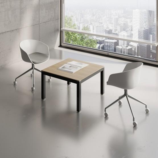 Impuls Small Table IM57, Black + Canadian Oak photo