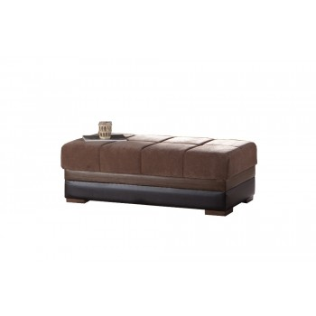 Moon Ottoman, Troya Brown by Sunset International Trade