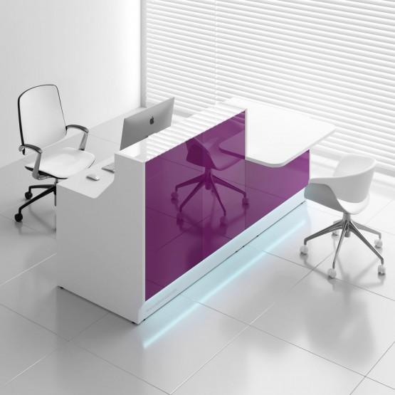 Linea LIN34L Reception Desk, Fuchsia photo