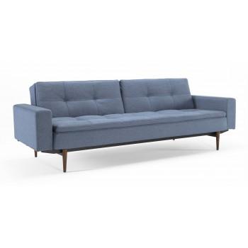 Dublexo Sofa Bed w/Arms, 558 Soft Indigo Fabric