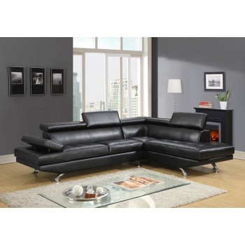 U9782 Sectional, Black