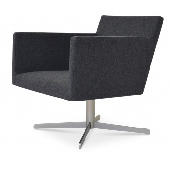 WRS Harput Lounge 4 Star Armchair, Dark Grey Camira Wool