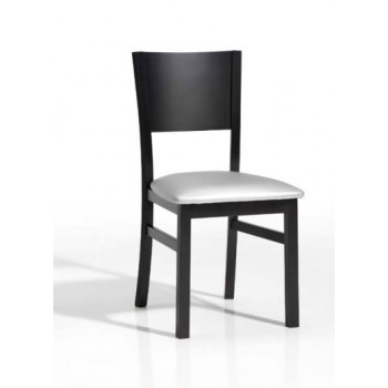 131 Dining Chair, Black Base, Grey Upholstery