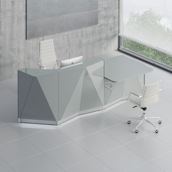 Alpa ALP22L Reception Desk, Aluminum