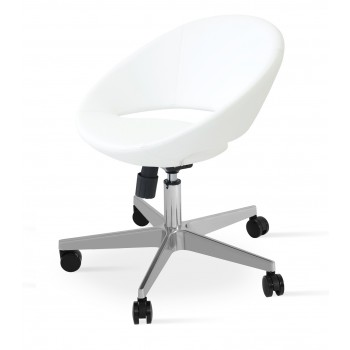 Crescent Office Chair, Base A2, White PPM by SohoConcept Furniture