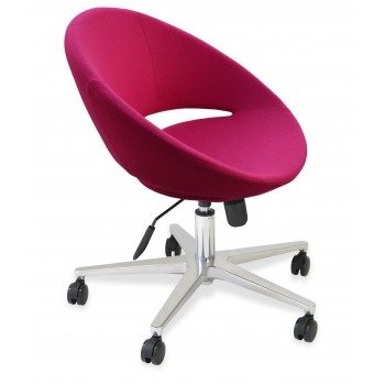 Crescent Office Chair, Base A1, Pink Wool by SohoConcept Furniture