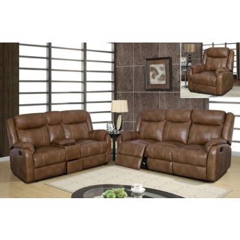 U7303C 3-Piece Living Room Set, Walnut