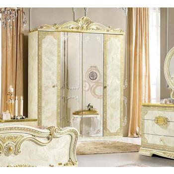 Leonardo 4-Door Wardrobe w/2 Mirrors