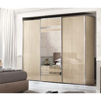 Ambra 3 Sliding Doors Wardrobe w/Mirror