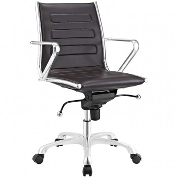 Ascend Mid Back Office Chair, Brown by Modway