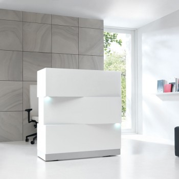 ZEN Reception Desk, White