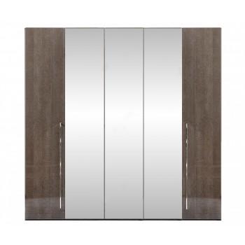 Platinum 5-Door Wardrobe w/Mirror