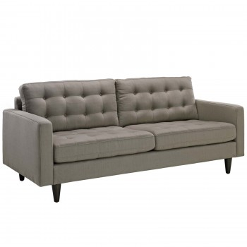 Empress Upholstered Sofa, Granite by Modway