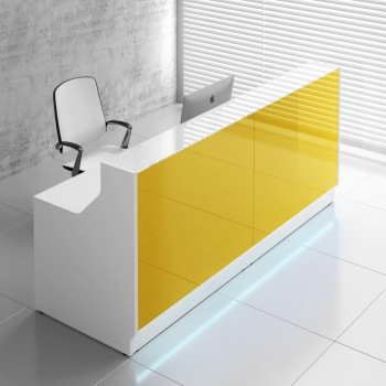 Linea LIN20 Reception Desk, Yellow