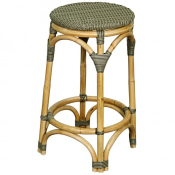 Adeline Backless Bistro Counter Stool, Light Grey/Dark Grey by NPD (New Pacific Direct)