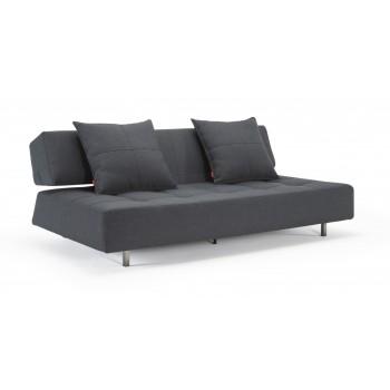 Long Horn Sofa Bed, 736 Basic Dark Grey Fabric