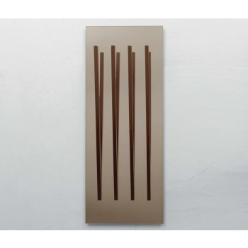 Alicante LED Bronzed Mirror with Touch Control and Coat Hanger, Canaletto Walnut (Voltage USA 110V)