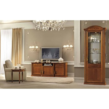 Siena 3-Piece Entertainment Set w/Maxi TV Cabinet, Walnut