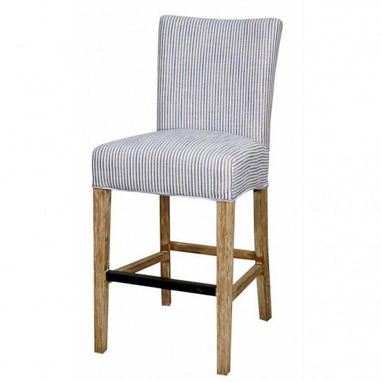 Prime Milton Fabric Counter Stool Natural Wood Legs Blue Stripes Uwap Interior Chair Design Uwaporg